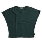 SOU・SOU高島縮 袖なしジバン/深緑色(しんりょくしょく)