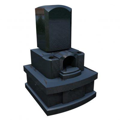 デザイン墓 タイム 黒御影石
