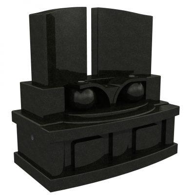 デザイン墓 シオン 黒御影石