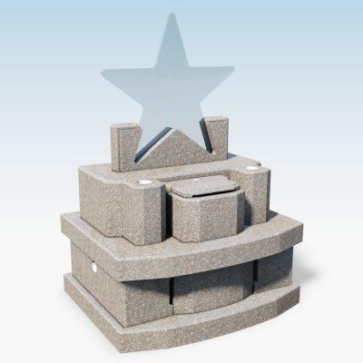 デザイン墓 スター 桃珊瑚