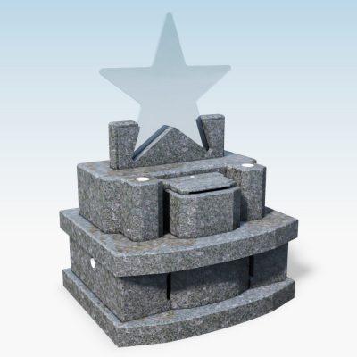 デザイン墓 スター バハマブルー