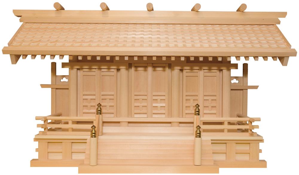 神殿 白山瓦屋根