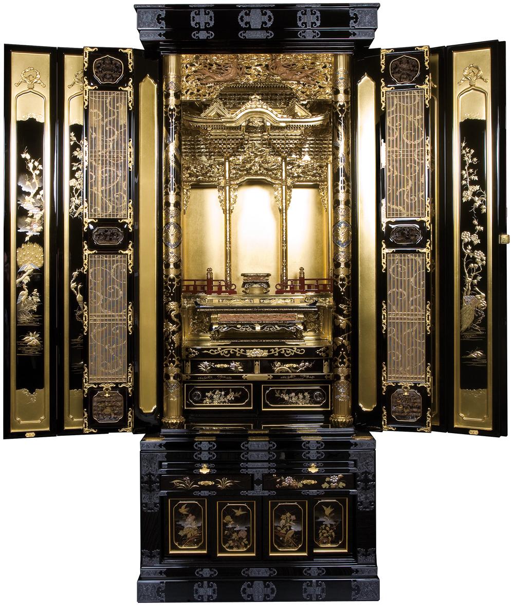 金仏壇 金沢壇 金明型