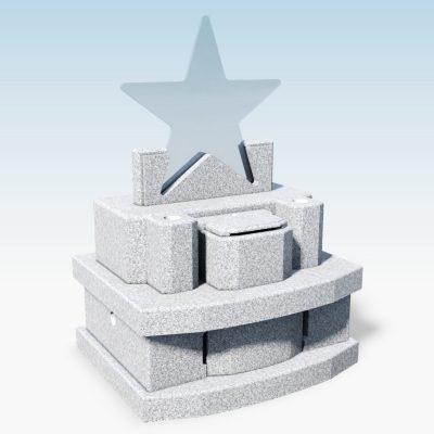 デザイン墓 スター 幸輝石