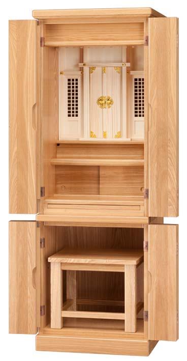 神徒壇 タモ 家具調 椅子付