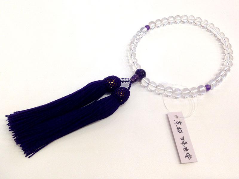 念珠 水晶-紫水晶