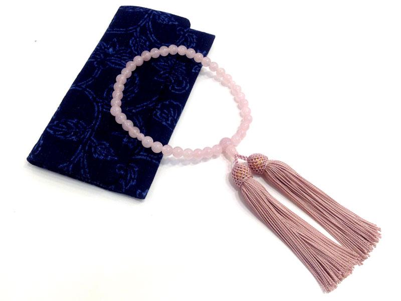 藍染め 木綿 念珠袋