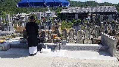 大島石石塔の新設及び墓所のリフォーム