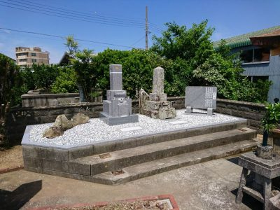 夫婦墓新設及び墓所内樹木の撤去と草止め工事
