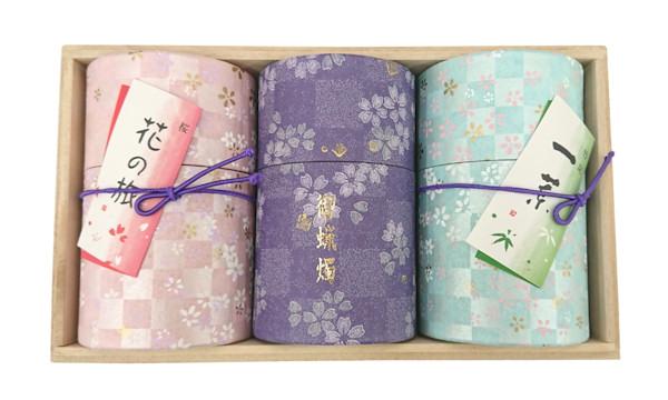 新 花の旅 桜・一葉・紫ローソク ミニ寸
