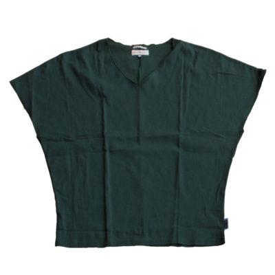高島縮 袖なしジバン/深緑色(しんりょくしょく)