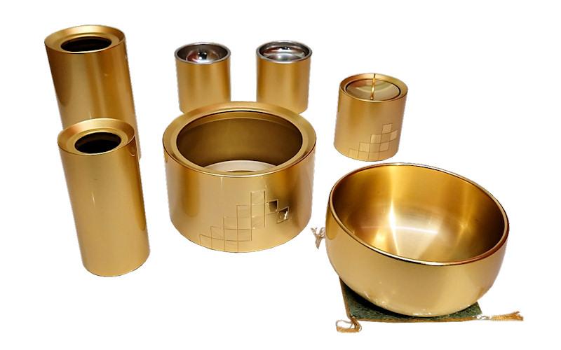 damier (ダミエ) マットゴールド 7具足セット 3寸(りん2.5寸)