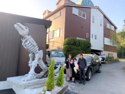 恐竜の骨オブジェ