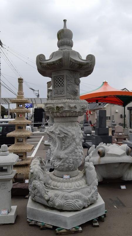 庭灯篭 奥の院12尺 白ミカゲ石