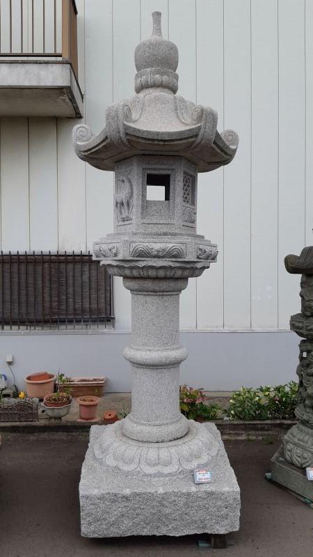 春日灯籠 岡崎型10尺 白ミカゲ石